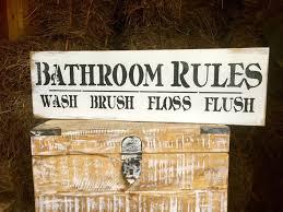 Decorative Restroom Signs