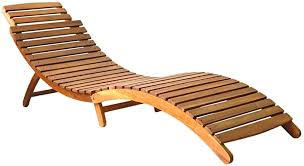 yorten <b>Sun Lounger Solid</b> Acacia Wood Brown: Amazon.co.uk ...