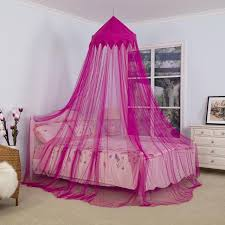 US $15.53 30% OFF|Baby Mosquito Net Dome Crown Bed Canopy Kids Round Princess Play Tent Lace Netting Bedding for Baby Boys Girls Playing Reading-in ...