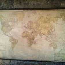 new modern giant world map antique style canvas wooden iron p