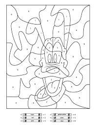 Cat halloween pumpkins coloring page. Free Disney Color By Number Printables