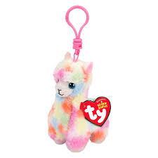 Мягкая <b>игрушка</b>-<b>брелок TY</b> Beanie Boo's Разноцветная лама ...