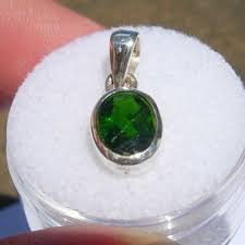 details about 925 sterling silver pendant 6 5 ct russian chrome diopside jewelry 13x8x4mm