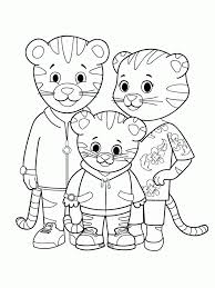 Download Daniel Tiger Coloring Pages Getwallpapersus