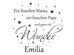 Wandtattoo Ein Bisschen Mama Papa Mit Name Bei Homestickerde