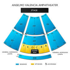 Anselmo Valencia Amphitheater 2019 Seating Chart