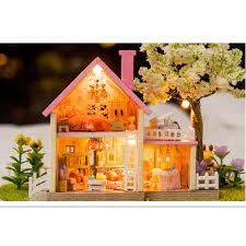 building doll furniture. diy doll house miniature dollhouse furniture handmade model building kits plastic ball houses