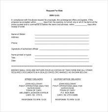 Bid Form For Construction Bid Format Formal Bid Proposal Bid Proposal Template For