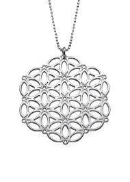 circle of life mandala sterling silver necklace