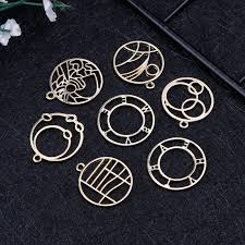 7 pcs metal frame diy uv resin resin tools jewelry making pendant necklace setting findings women gifts handmade exquisite
