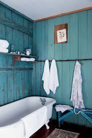 aqua blue bathroom designs. Small Bathroom Ideas With Shabby Chic Design And Hanging Coat Wall Hook Floating Shelves White Clawfoot Bathtub Blue Seating Bench Aqua Designs O