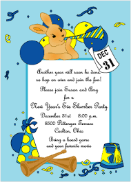 New Year's Eve Party Invitations for Kids