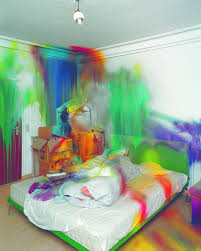 neon paint colors for bedrooms. Untitled / 2004 Acrylic On Wall And Various Objects Cm Dusseldorf Interior Neon Paint Colors For Bedrooms