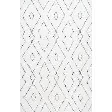 nuloom beaulah shaggy white 8 ft x 10 area rughjkz01a76096 the home depot white area rug2 rug