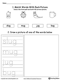 Check out our different sets of worksheets that help kids practice and learn phonics skills like beginning sounds, rhyming and more. Ug Word Family Phonics And Writing Practice Myteachingstation Com