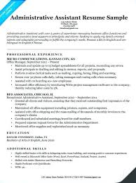 Sample Of Administrative Assistant Resume Administration Assistant Resume Yuriewalter Me