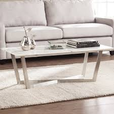 marble coffee table. Rosenbalm Faux Marble Coffee Table