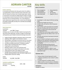 Teaching Resume Template Free Beauteous 28 Teacher Resume Templates PDF DOC Free Premium Templates