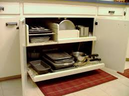 Kitchen Cabinet Door Shelves Organizer Pots And Pans Organizer For Accommodate Different Sizes