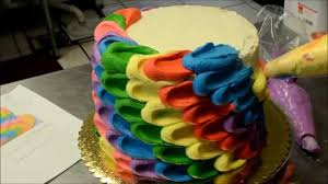 How To Design Cake Making Of A Rainbow Swirling Cake How To Design Rainbow Cake Video Tutorial
