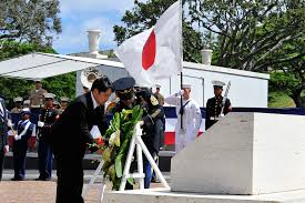 u s department of defense photo essay   ese defense minister itsunori onodera honors american veterans during a wreath laying ceremony at the