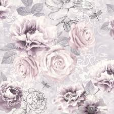 Pink Flower Wallpaper For Bedrooms Purple And Pink Dark Floral Wall Mural Vintage Floral Wall And Pink