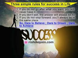 Three Simple Rules For Success In Life Inspirational Quotes Magnificent Quotation On Success In Life