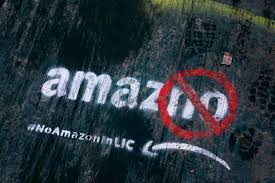 16 2018 file photo graffiti has been painted on a sidewalk by someone opposed to the location of an amazon headquarters in the long island city