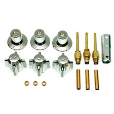 danco central brass 3 handle tub and shower faucet trim kit in chrome valve not included 39616 the home depot