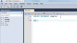 sql tutorial create use and drop databases sql tutorial 5 create use and drop databases