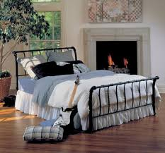 Sleigh Bed Bedroom Furniture Amazoncom Hillsdale Furniture 1655bqr Janis Metal Sleigh Bed Set