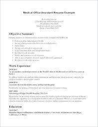 Executive Summary Resume Example Summary Resume Template Medical
