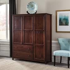 wood furniture door. Shaker 3-Door Wardrobe - Cherry Grain Wood Furniture 1 Door