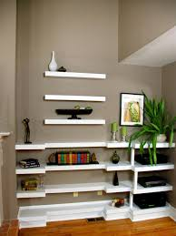 Shallow Floating Wall Shelves