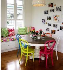 Different Colored Dining Room Chairs from