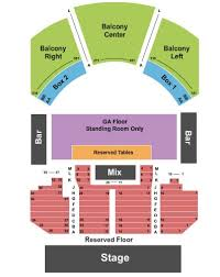 House Of Blues Tickets And House Of Blues Seating Chart