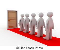 closed door clipart. People Standing Before Closed Door Clipart