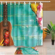 Artistic shower curtains Woman Man African Artistic Shower Curtains Guitar Acoustic Guitar On Wooden Planks Waterproof Polyester Fabric Shower Curtain Set Doormat Curtains Shower Artistic Shower Curtains Guitar Acoustic Guitar On Wooden Planks