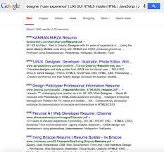 Google Resume Search in Action