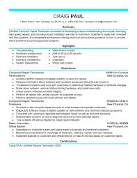 Pc Technician Resume Sample Best Computer Repair Technician Resume Example LiveCareer 1
