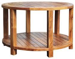 teak wood bahama round coffee table