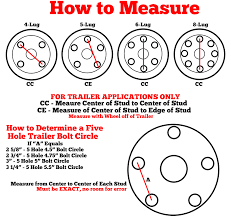 How To Measure Bolt Pattern Cool How To Measure Bolt Patterns On Trailer Wheels Dukes AW