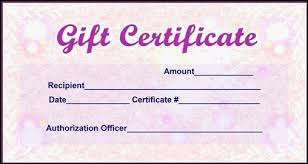 Sample Of Gift Certificates Magdalene Project Org