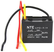 nte electronics cfc 2 4 capacitor ceiling fan 2 4 ufd 125