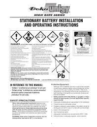 Battery Mhos Chart Stationary Battery Installation And Operating Instructions