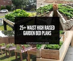 waist high raised garden bed ideas plans