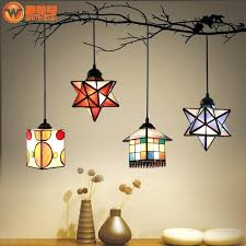star hanging lights fashion star pendant light stained glass restaurant bar dinging room hanging lighting hanging star hanging lights