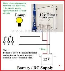 onsolar v low energy saving lighting products for the home click on the image to the right to see a larger image of a basic schematic wiring diagram to assist your timer installation