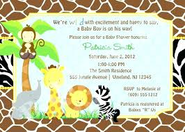 Jungle Theme Birthday Invitations Jungle Theme Birthday Invitations Free E Safari Food Labels