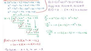 lc hl solving cubic equations using the factor theorem 3